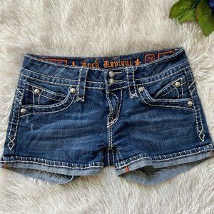 Rock Revival Amy Denim Jean Shorts